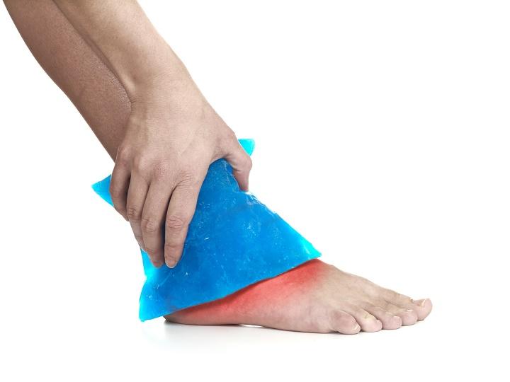 лед на ноге
